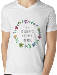 Coming undone Mens V-Neck T-Shirt