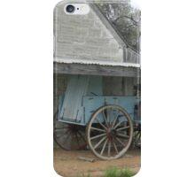 Antique Blue Wagon at Fort Martin Scott iPhone Case/Skin