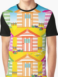 SUMMER BEACH HUTS Graphic T-Shirt