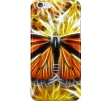 Butterfly on Flowers (detailed) iPhone Case/Skin