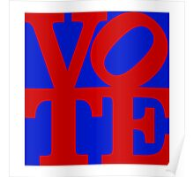 VOTE (red on blue) Poster