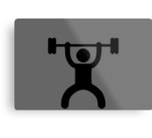 icon bodybuilder Metal Print