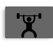 icon bodybuilder Canvas Print