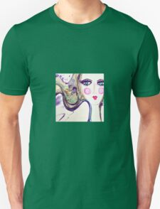 Girl Purple Unisex T-Shirt