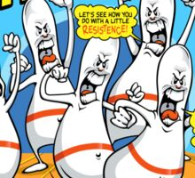 Bowling Pins Attack Tonight Card Sticker