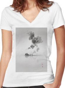 The moment is Now Women's Fitted V-Neck T-Shirt