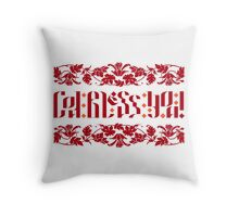 God Bless You. Red Throw Pillow