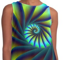 Stair Spiral in Blue and Turquoise Contrast Tank