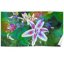 Watercolor Flower numero dos Poster