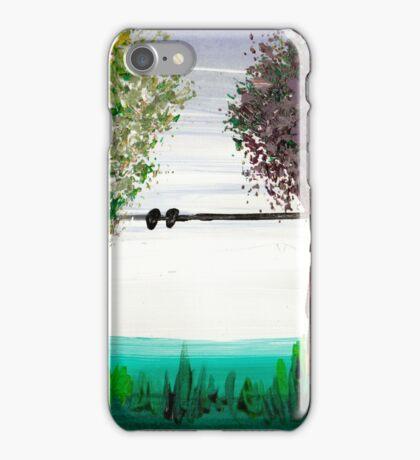 Scrubbing brush trees iPhone Case/Skin