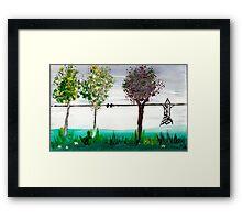 Scrubbing brush trees Framed Print