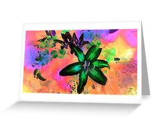 Watercolor Flower number tres Greeting Card