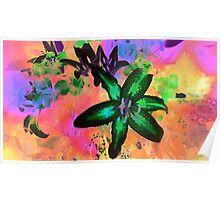 Watercolor Flower number tres Poster