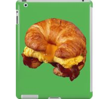 EGG CHEESE AND BACON (CROISSANT) iPad Case/Skin
