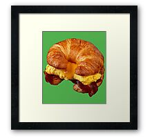 EGG CHEESE AND BACON (CROISSANT) Framed Print