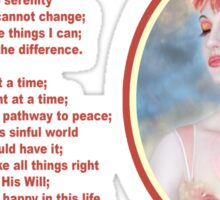 The Serenity Prayer 4 Sticker