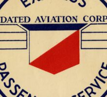 CONSOLIDATED AIR LINES AIRLINES EXPRESS PASSENGER SERVICE VINTAGE LUGGAGE TAG LABEL STICKER Sticker