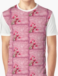 Pink Tulips Graphic T-Shirt
