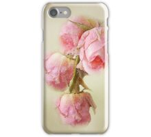 Pink Lace Roses iPhone Case/Skin
