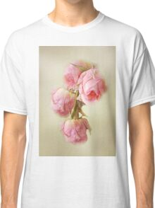 Pink Lace Roses Classic T-Shirt