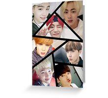 Selca Collage - BTS Greeting Card