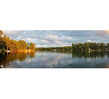 Farm Lake - Panoramic Photographic Print