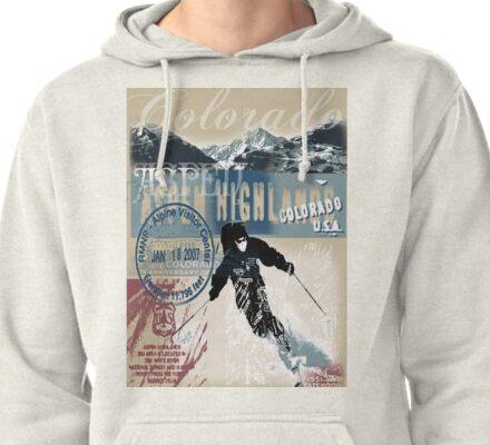 aspen skiing Pullover Hoodie