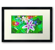 Watercolor Flower numero quatro Framed Print