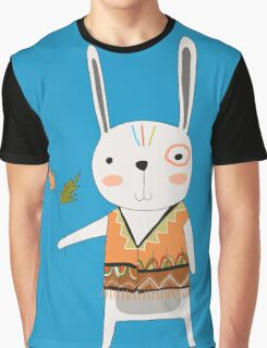 Cartoon Animals Tribal Bunny Rabbit Graphic T-Shirt