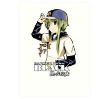 amber with her baseball cap darker than black  Art Print