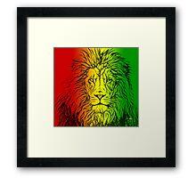 Rasta Lion numero uno Framed Print