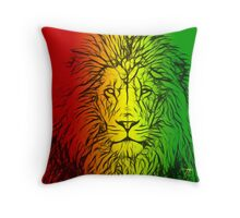 Rasta Lion numero uno Throw Pillow