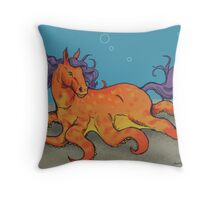 OctoHorse Throw Pillow