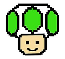 Pixel Green Toad Photographic Print