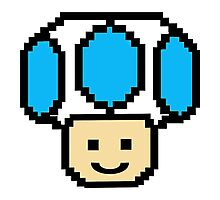 Pixel Blue Toad Photographic Print