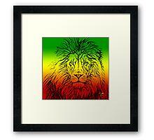 Rasta Lion numero tres Framed Print