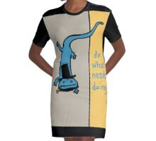 Lincoln Lizard Graphic T-Shirt Dress