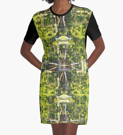 Forest Treetops Graphic T-Shirt Dress