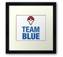 Team Blue Poké Plus Framed Print