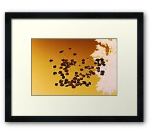 Orange 8-bit Framed Print