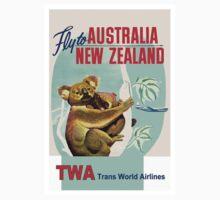 """TWA"" Fly to Australia & New Zealand Print Kids Tee"