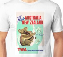 """TWA"" Fly to Australia & New Zealand Print Unisex T-Shirt"