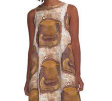 Spilled Coffee A-Line Dress