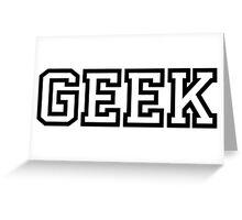 Geek in Greek Style Shirt Greeting Card