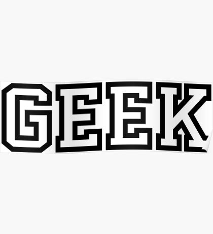 Geek in Greek Style Shirt Poster