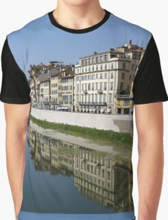 Reflection on the Arno River - Florence, Italy Graphic T-Shirt