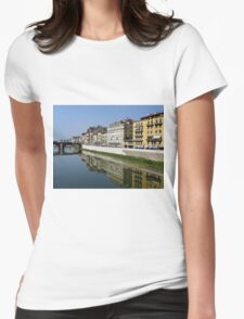 Reflection on the Arno River - Florence, Italy Womens Fitted T-Shirt