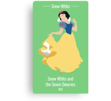 Snow White Illustration Canvas Print