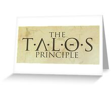 The Talos Principle Greeting Card