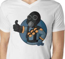 BLU Pyro - Blue Brain Slug Mens V-Neck T-Shirt